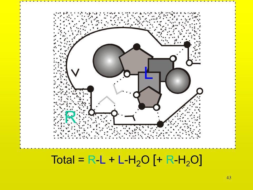L R Total = R-L + L-H2O [+ R-H2O]